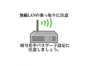 無線LANのただのり防止に暗号化やパスワード設定を